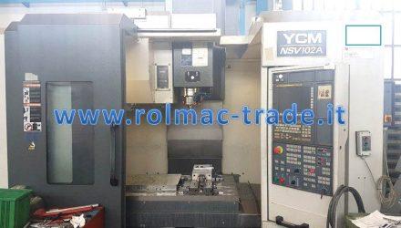 Centro di lavoro verticale YCM model. NSV102A (versione moulding)