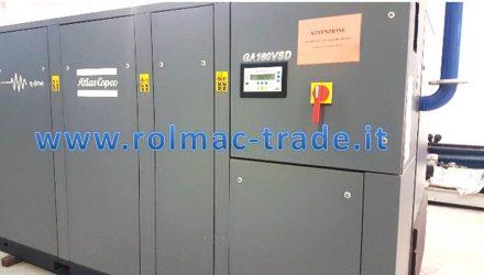 Compressore ATLAS COPCO GA180VSD usato